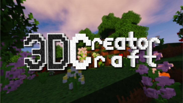 3D CreatorCraft - 3D ресурс пак [1.15.1] [1.14.4] [1.12.2] (16x)