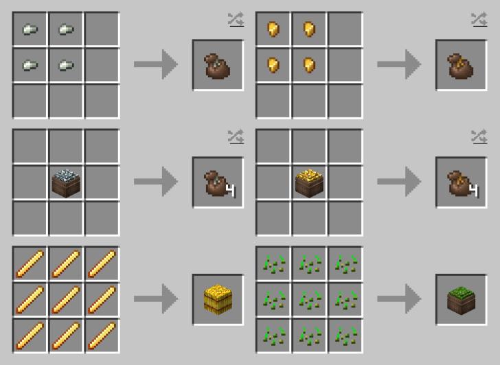 Compressed Items [1.15.1] [1.14.4] [1.13.2] [1.12.2] (сжатие предметов в блоки)