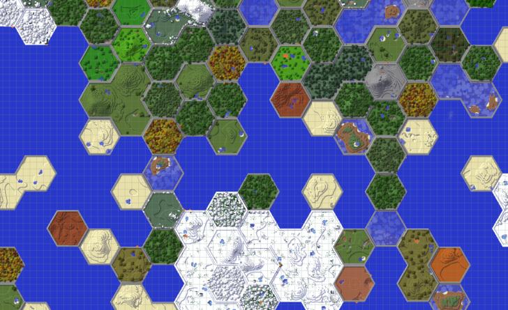 Hex Lands - мир из шестиугольников (сот) [1.12.2]
