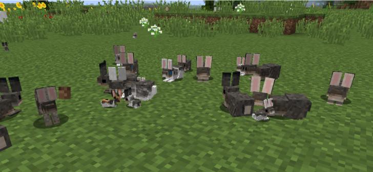 Enhanced Animals - реалистичные ламы, кролики и курицы [1.13.2] [1.12.2]