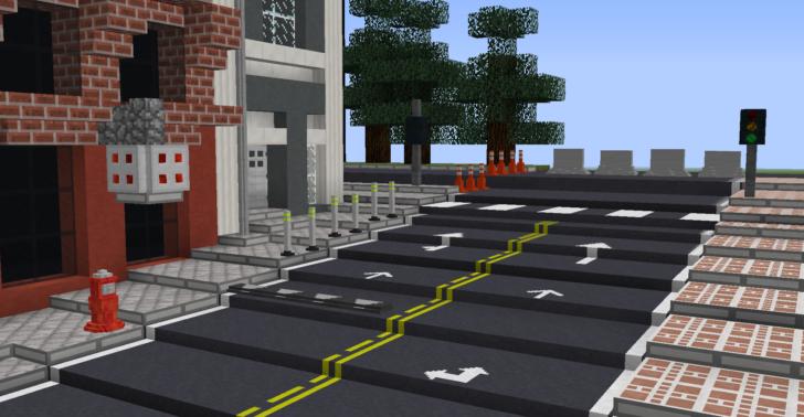 Traffico - асфальтовых блоки, светофоры, лежачие полицейские [1.12.2]