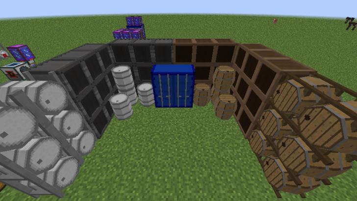Barrels, Drums, Storage & More - хранения предметов и жидкостей [1.12.2]