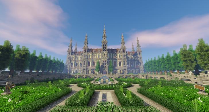 Французский замок с садом [1.12.2]