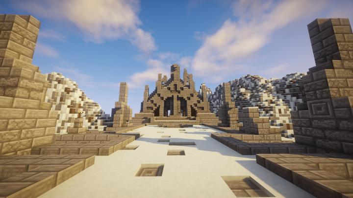 A Northen Temple from Skyrim - крепость нордов из Скайрим [1.12.2]