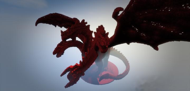 Огромный красный дракон Тиамат [1.13.2]
