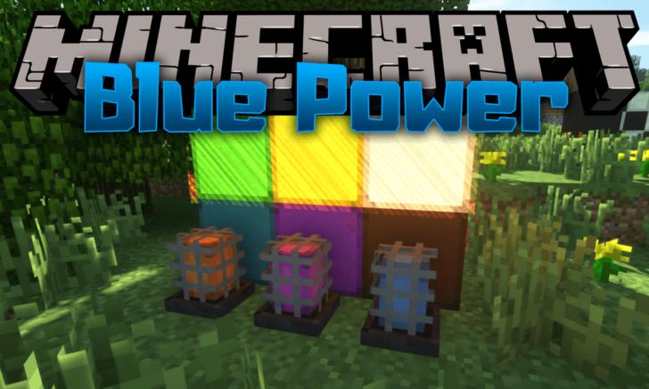 Blue Power [1.14.4] [1.12.2] [1.7.10] (перемещение блоков и передача сигнала)
