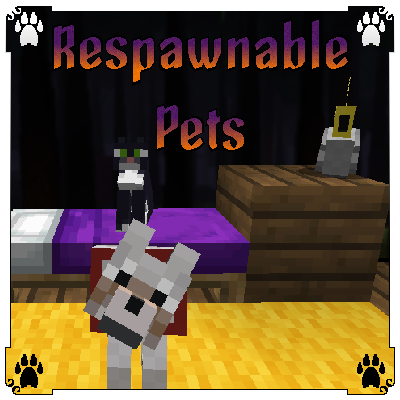 Respawnable Pets - возрождение питомцев [1.12.2]