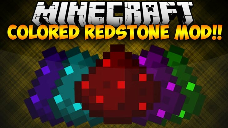 Colored Redstone - цветная красная пыль [1.12.2]