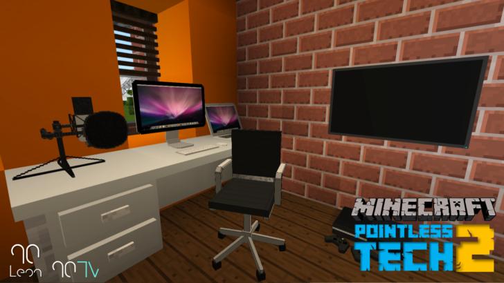 Pointless Tech 2 - телевизоры и компьютеры в Майнкрафт [1.12.2]