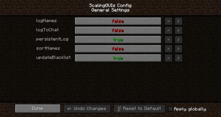 ScalingGUIs - настройка размера элементов интерфейса [1.12.2]