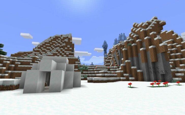 Сид на Снежные деревни, Ледяные шипы и Иглу [1.14.1] [1.14]