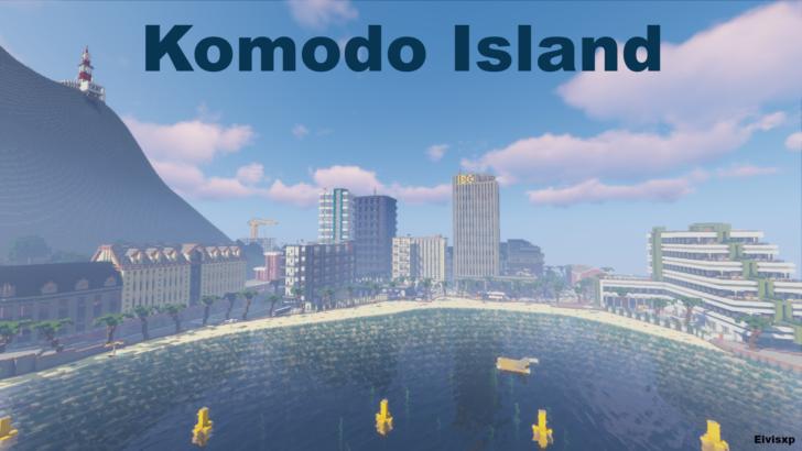 Огромный город с Аэропортом, морским портом и вулканом в центре [1.13.2]