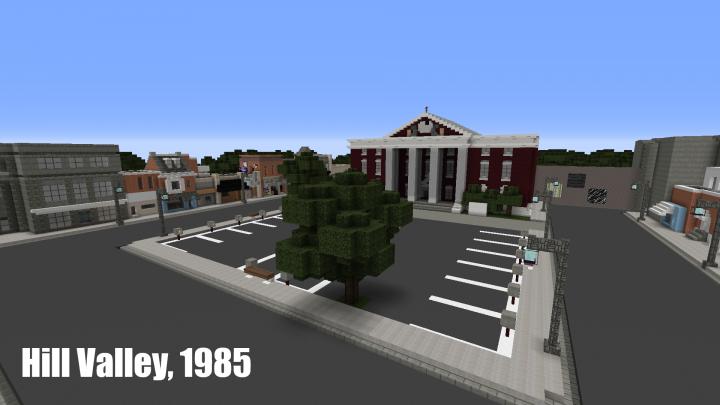 Площадь Хилл-Вэлли 1985 года из фильма Назад в будущее [1.12.2]