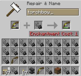 TorchBow [1.14.4] [1.13.2] [1.12.2] [1.7.10] (лук стреляющий факелами)
