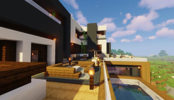 Современный дом с бассейном [1.14.3]