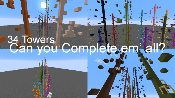 Simple Towers [1.14.4] (34 паркур уровень-башни)