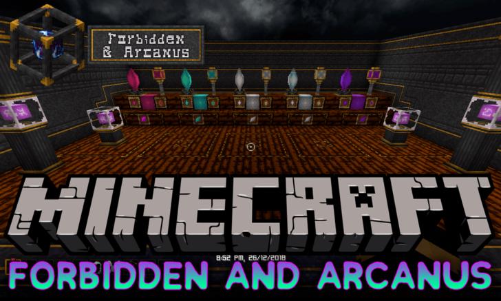 Forbidden and Arcanus [1.14.3] [1.13.2] [1.12.2] (магическое оружие и броня)