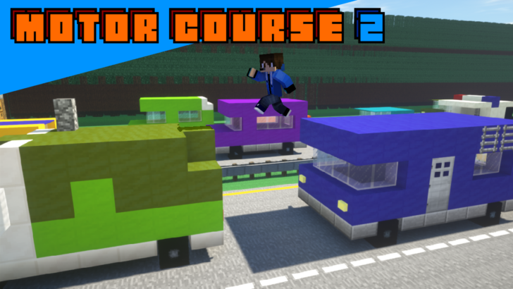 Motor Course 2 [1.14.3] (паркур по машинам)