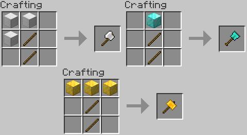 Practical Tools [1.14.4] (мощные лопаты, кирки и топоры)