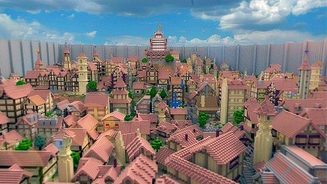 Город Шиганшина в момент нападения титана из Атака Титанов [1.12.2]