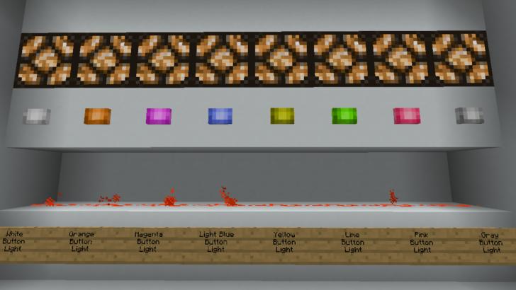 Lever & Button Lights [1.12.2] [1.11.2] (разноцветные кнопки)