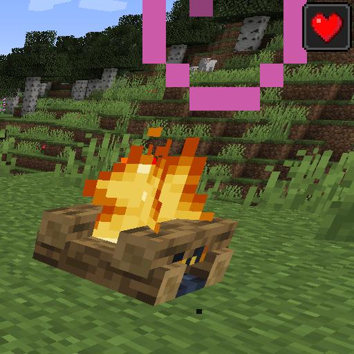 Healing Campfire [1.14.4] (лечебный костер)
