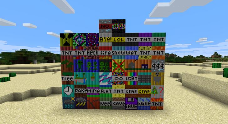 Super TNT [1.12.2] (56 видов динамита)
