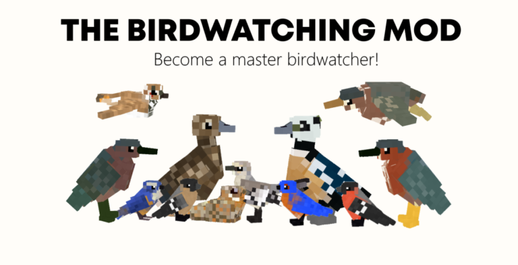 The Birdwatching [1.12.2] (реалистичные птицы)