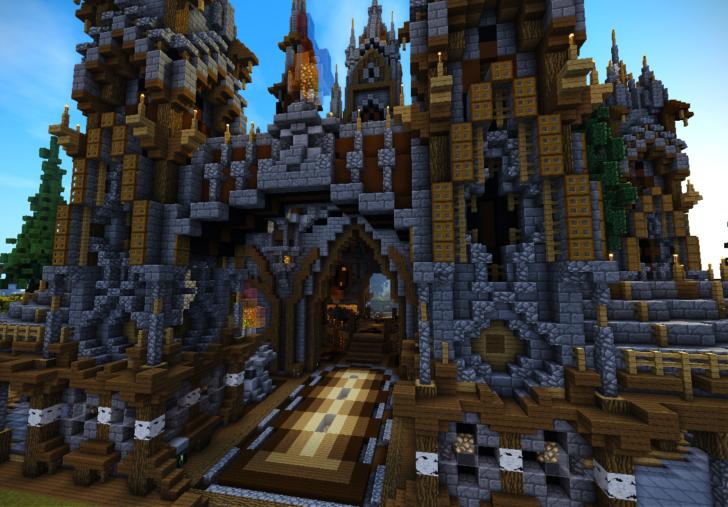 Средневековый замок (спаун для серевера)