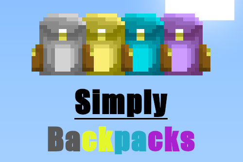 Simply Backpacks [1.12.2] (простые рюкзаки)