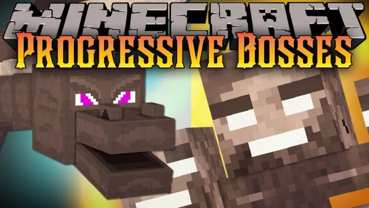 Progressive Bosses [1.14.4] [1.12.2] - сильный дракон края и иссушитель