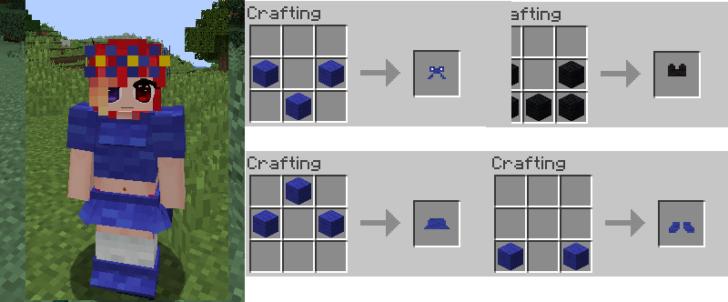 V-Girl Armor [1.14.4] [1.12.2] [1.11.2] [1.10.2] (броня и одежда для девушек)