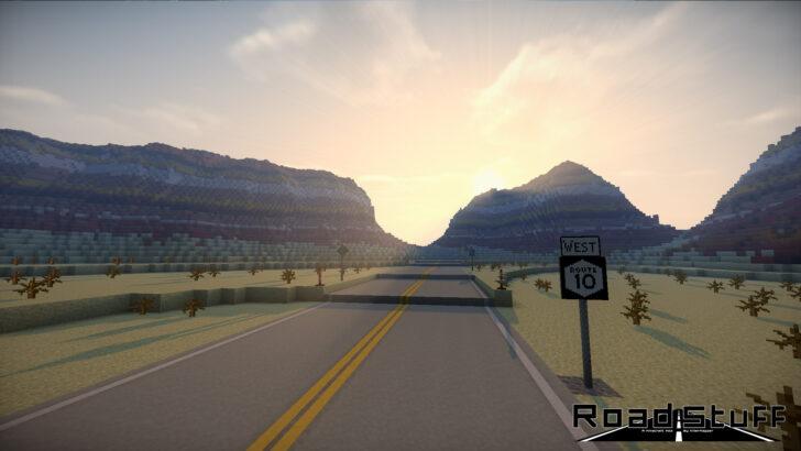 Road Stuff [1.14.4] [1.7.10] (реалистичные дороги)